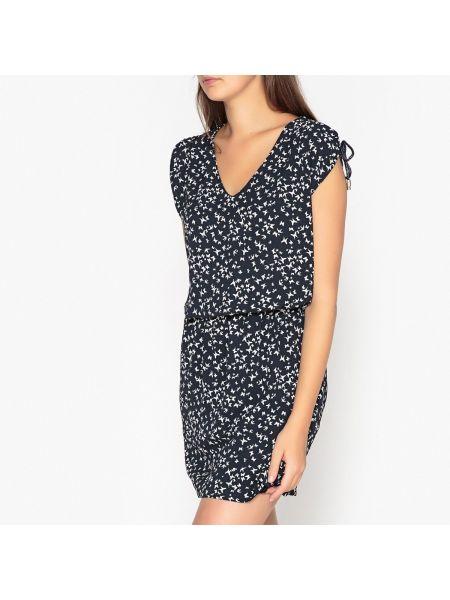 Платье мини короткое - синее Ikks