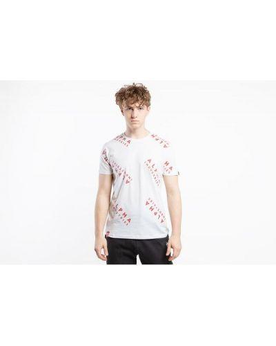 T-shirt bawełniana - biała Alpha Industries