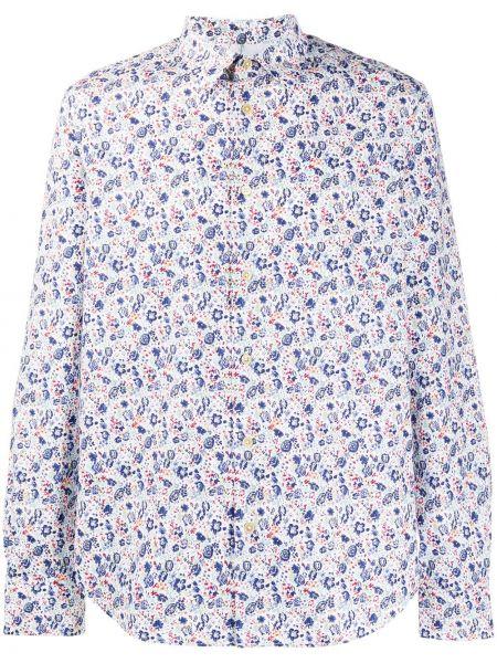 Koszula z długim rękawem klasyczna z kwiatowym nadrukiem Paul Smith