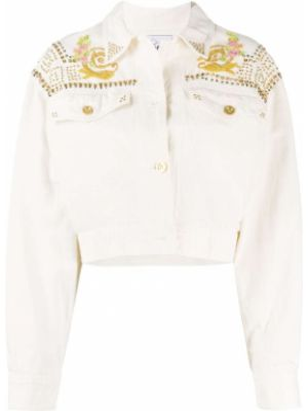 Короткая куртка с вышивкой винтажная с воротником A.n.g.e.l.o. Vintage Cult
