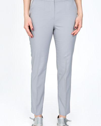 Классические брюки с карманами серые Glam Casual