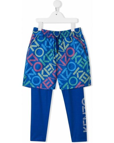 Niebieskie legginsy z printem Kenzo Kids