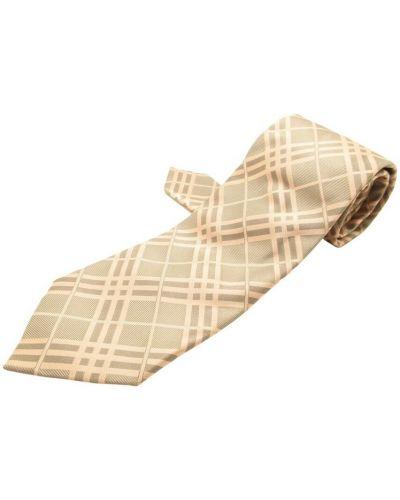 Krawat z jedwabiu - szary Burberry Vintage