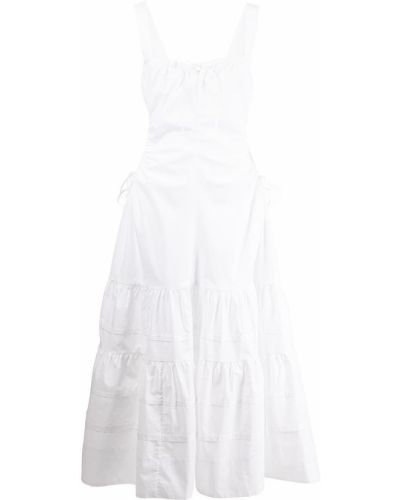 Хлопковое платье миди - белое Nicholas