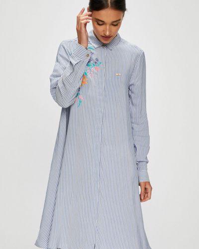 Платье мини из вискозы расклешенное U.s. Polo