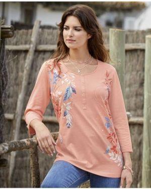 Блузка персиковый с рукавом 3/4 Atlas For Men