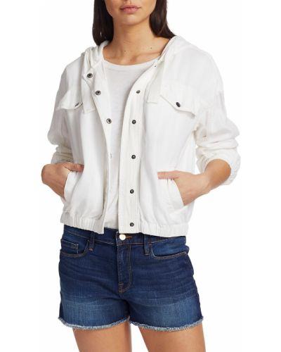 Льняная длинная куртка с длинными рукавами с драпировкой Splendid