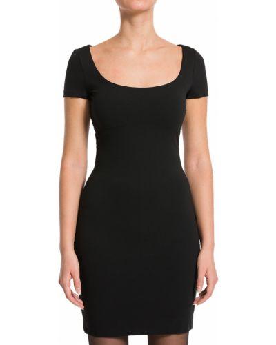 Платье из вискозы - черное Dsquared2