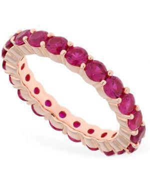 Różowy złoty pierścionek pozłacany Talita
