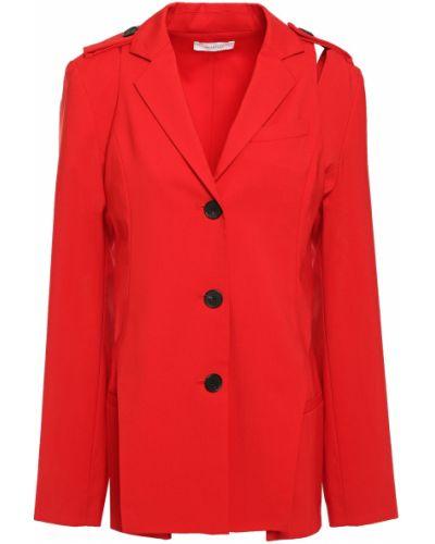 Шерстяной пиджак на пуговицах с вырезом Beaufille