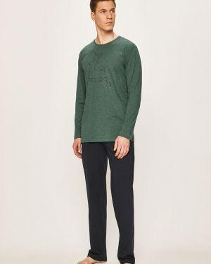 Zielona piżama bawełniana z printem Tom Tailor Denim