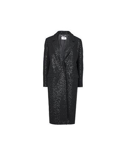 Шерстяное черное пальто Seven Lab