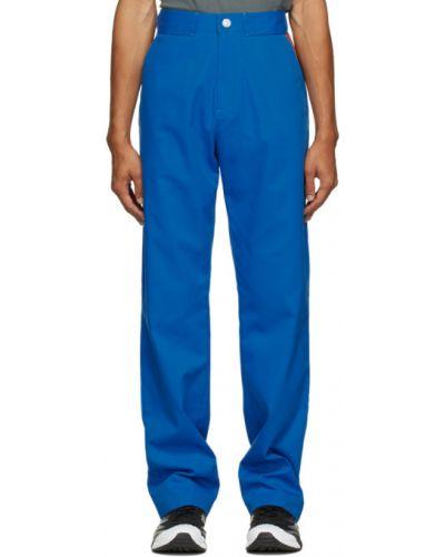 Прямые парусиновые синие прямые брюки с поясом Affix
