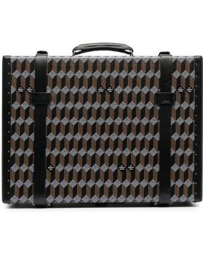 Кожаная коричневая сумка на бретелях Au Depart