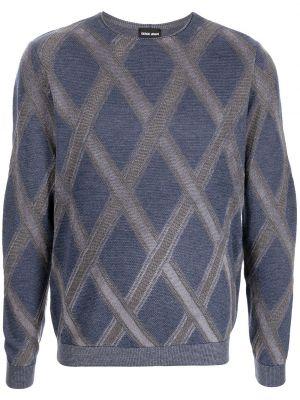 Niebieska bluza z długimi rękawami Giorgio Armani