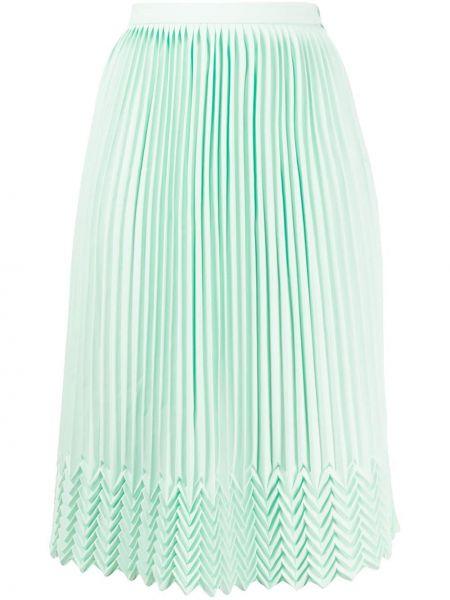 Юбка миди с завышенной талией - зеленая Marco De Vincenzo