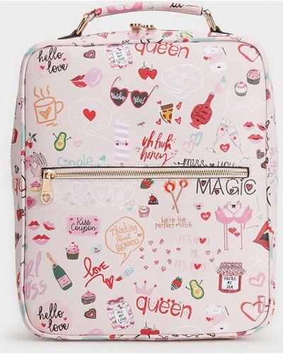 Plecak z obrazem różowy Parfois