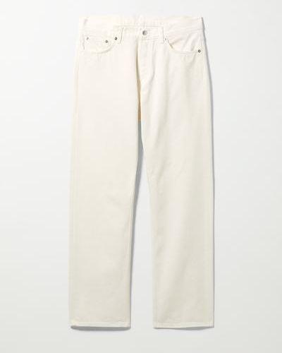 Белые джинсовые джинсы Weekday