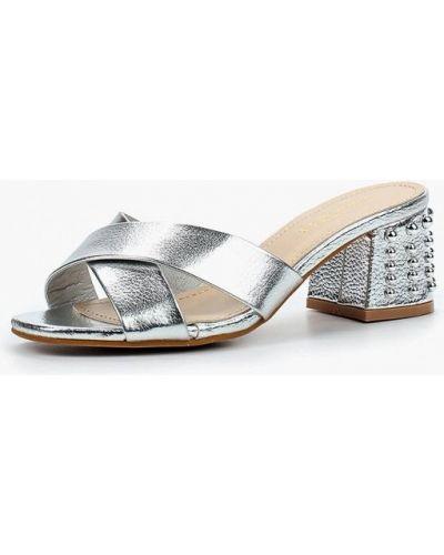 Сабо кожаные серебряного цвета Damerose