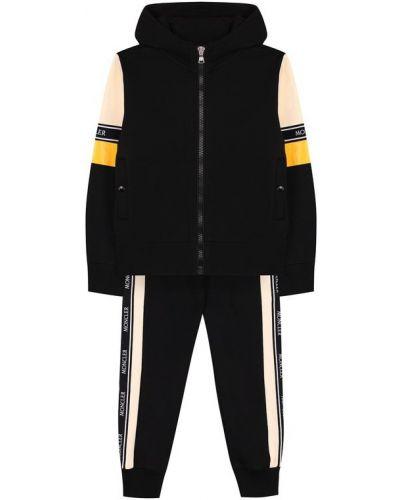 Черный спортивный костюм с капюшоном Moncler Enfant