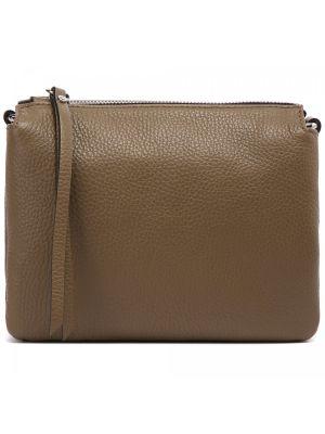Серая кожаная сумка Gianni Chiarini