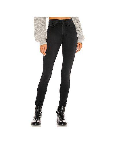 С завышенной талией черные джинсы-скинни с карманами 7 For All Mankind