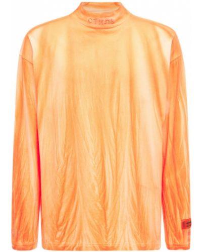 Оранжевая трикотажная водолазка с высоким воротником Heron Preston