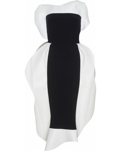 Хлопковое белое коктейльное платье с открытыми плечами A.w.a.k.e.