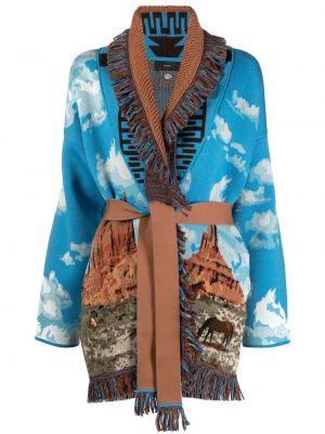 Шерстяное длинное пальто с лацканами Alanui