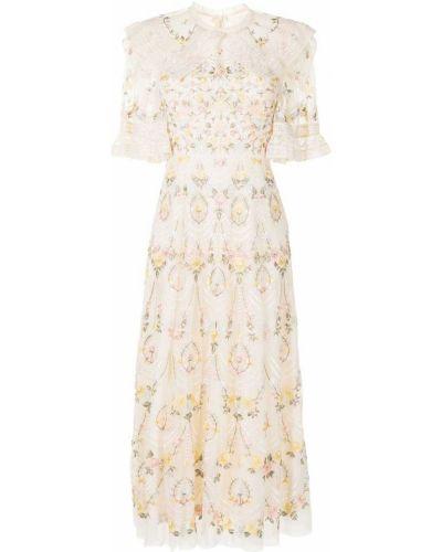 Розовое платье мини короткое Needle & Thread