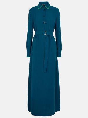 Niebieska sukienka z jedwabiu Loro Piana