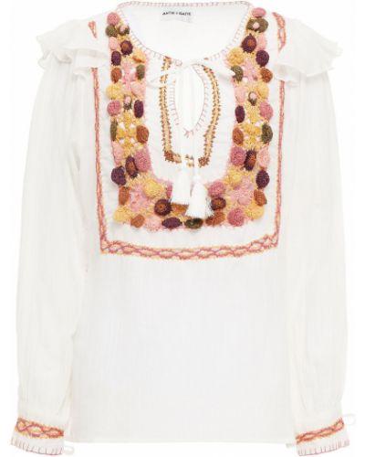 Biała bluzka bawełniana Antik Batik