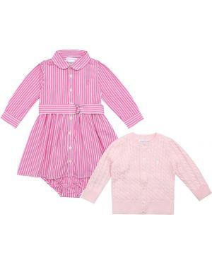 Платье розовое платье-свитер Polo Ralph Lauren Kids