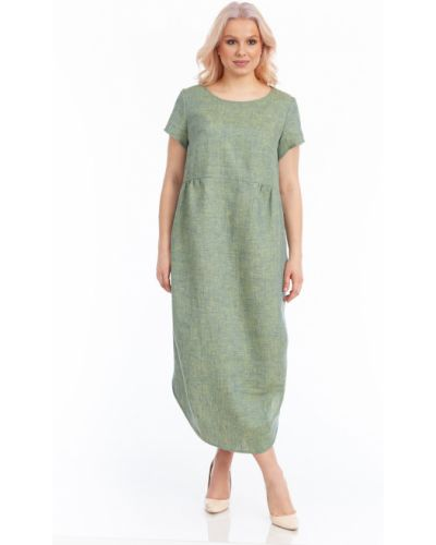 Прямое платье макси с короткими рукавами с разрезом Merlis