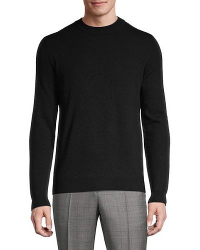 Черный шерстяной длинный свитер с длинными рукавами Boss Hugo Boss