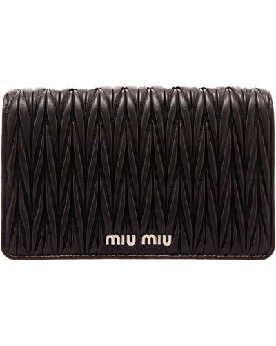 Кожаная сумка через плечо на цепочке Miu Miu