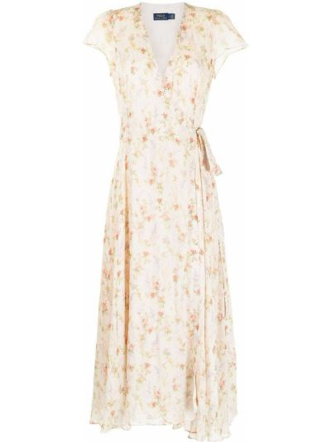 Sukienka z dekoltem w serek Polo Ralph Lauren