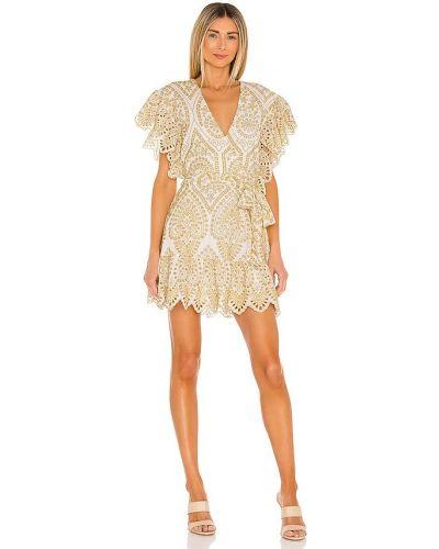 Sukienka mini boho kopertowa w paski Minkpink