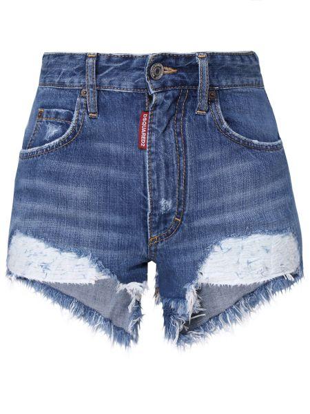 Джинсовые шорты с бахромой Dsquared2