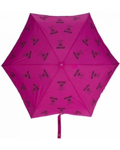 Parasol z printem - czarny Moschino