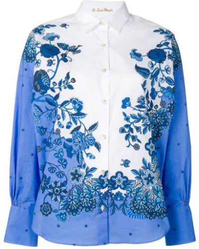 Классическая синяя классическая рубашка на пуговицах Le Sarte Pettegole