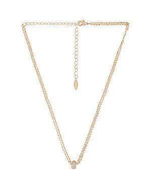 С цирконием ожерелье металлическое золотое позолоченное Ettika