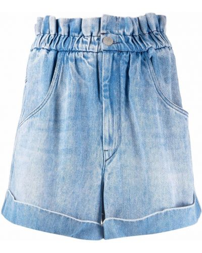 Синие шорты с карманами на пуговицах Isabel Marant étoile