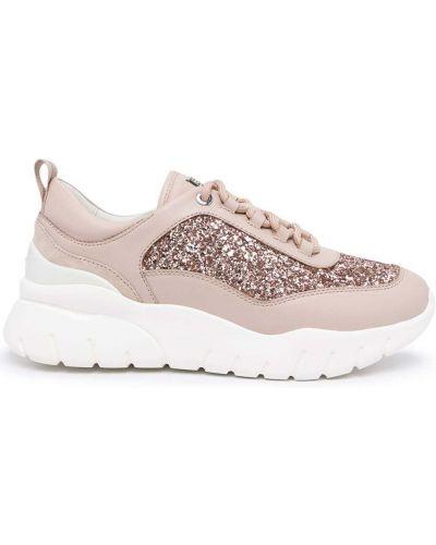 Розовые массивные кроссовки Bally