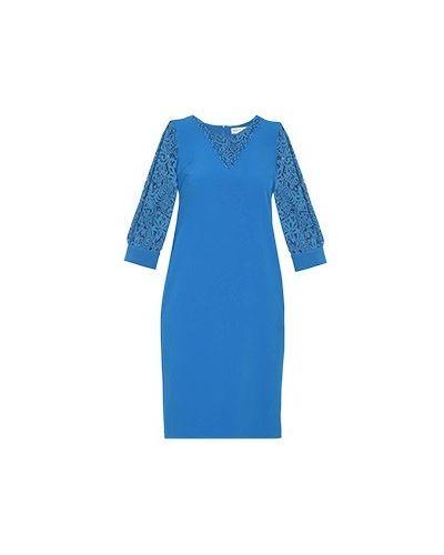 Синее платье для офиса Elisa Fanti
