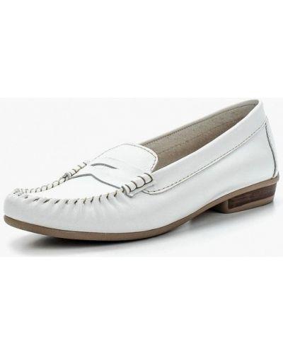 Белые мокасины кожаные Tamaris
