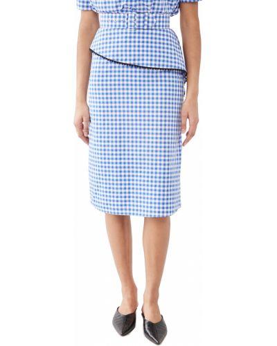 Асимметричная хлопковая белая юбка Rodarte