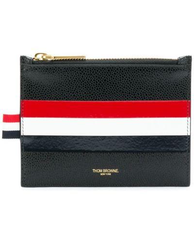 Кожаный кошелек в полоску на молнии Thom Browne