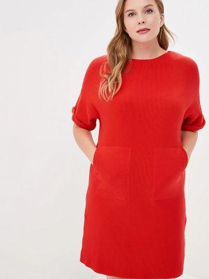 Платье вязаное красный Marytes