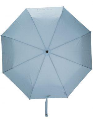 Niebieski automatyczny parasol z printem Mackintosh
